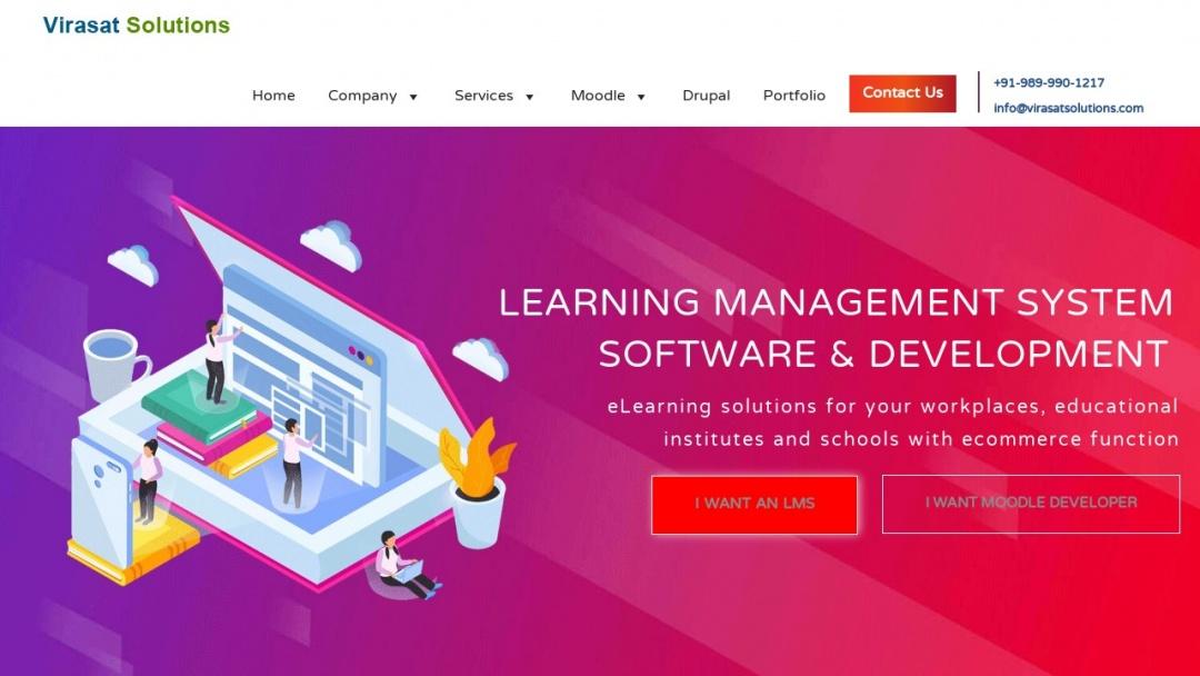 Screenshot of Virasat solutions's Website