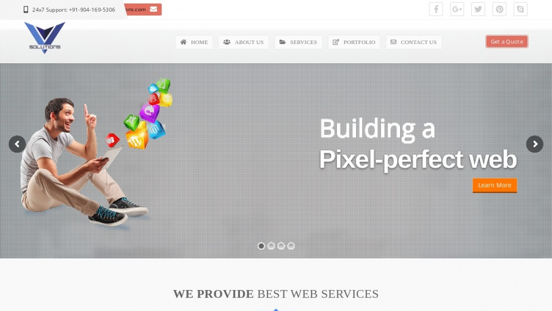 Screenshot of Virtual Vault Solutions's Website