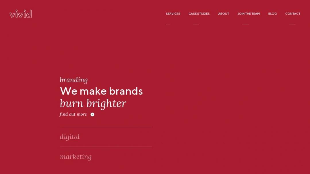 Screenshot of Vivid Creative Ltd's Website