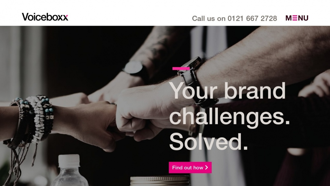 Screenshot of Voiceboxx's Website