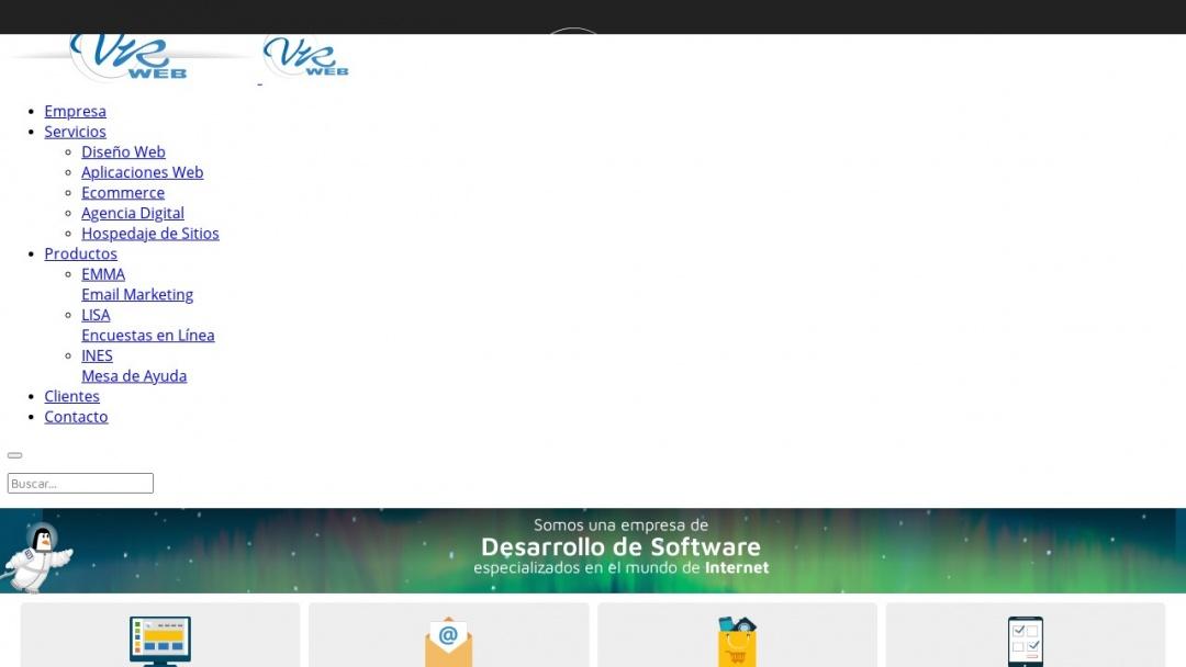 Screenshot of VRWEB's Website