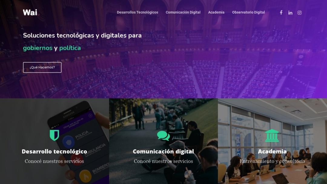 Screenshot of Wai Argentina.'s Website