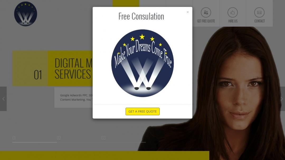 Screenshot of Walk N Star's Website