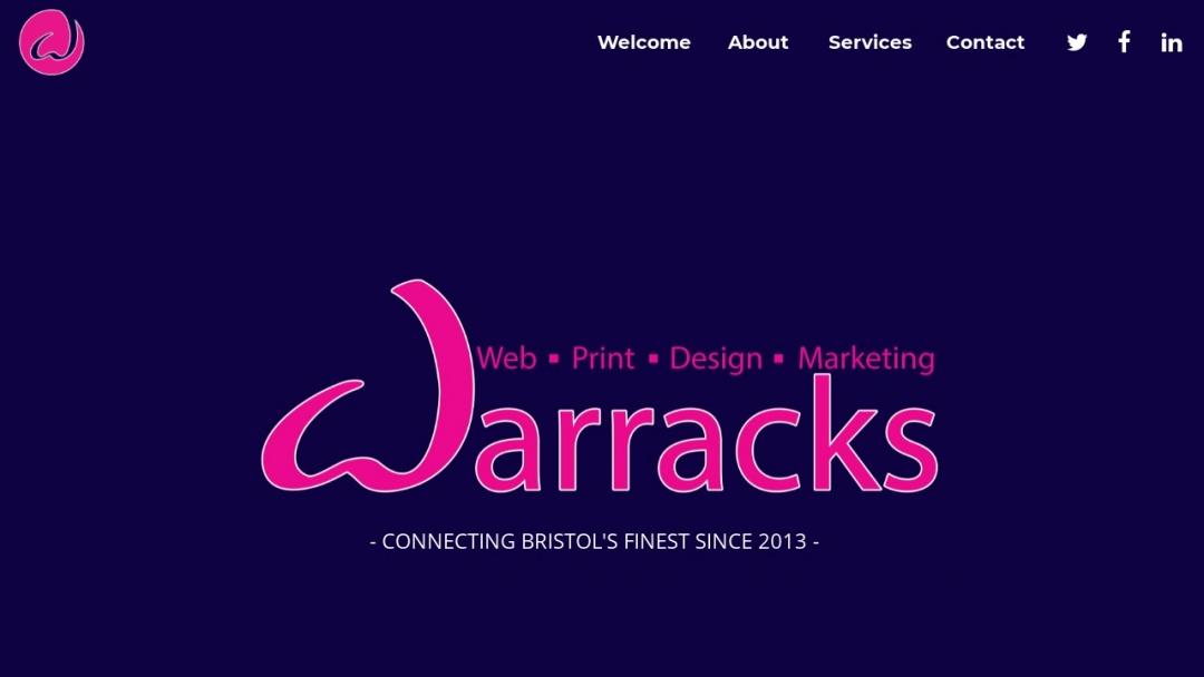 Screenshot of Warracks Ltd's Website