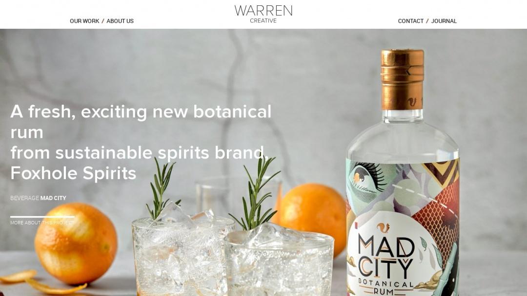 Screenshot of Warren Creative's Website