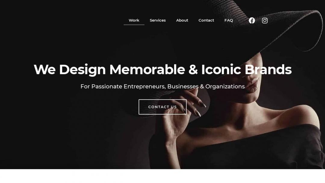 Screenshot of We Love Branding Agency's Website