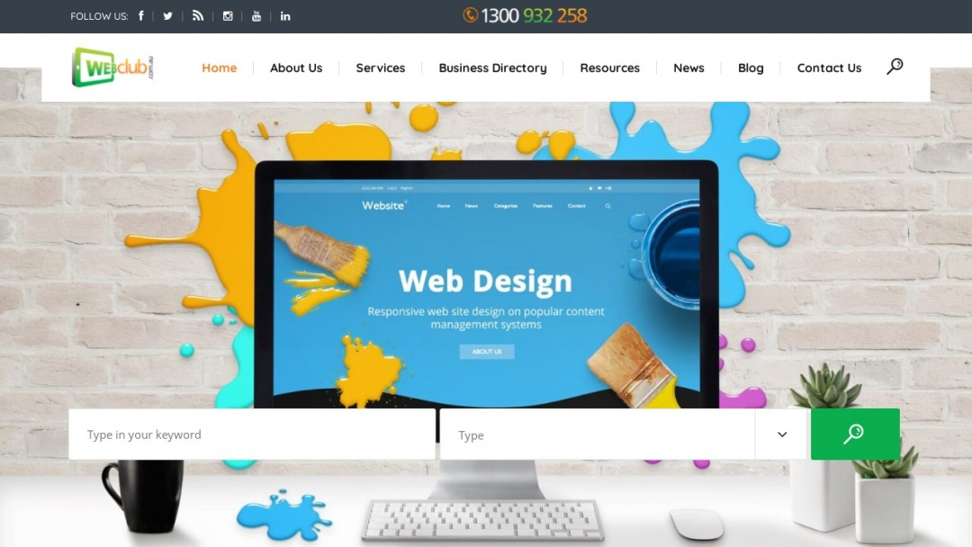 Screenshot of Web Club's Website