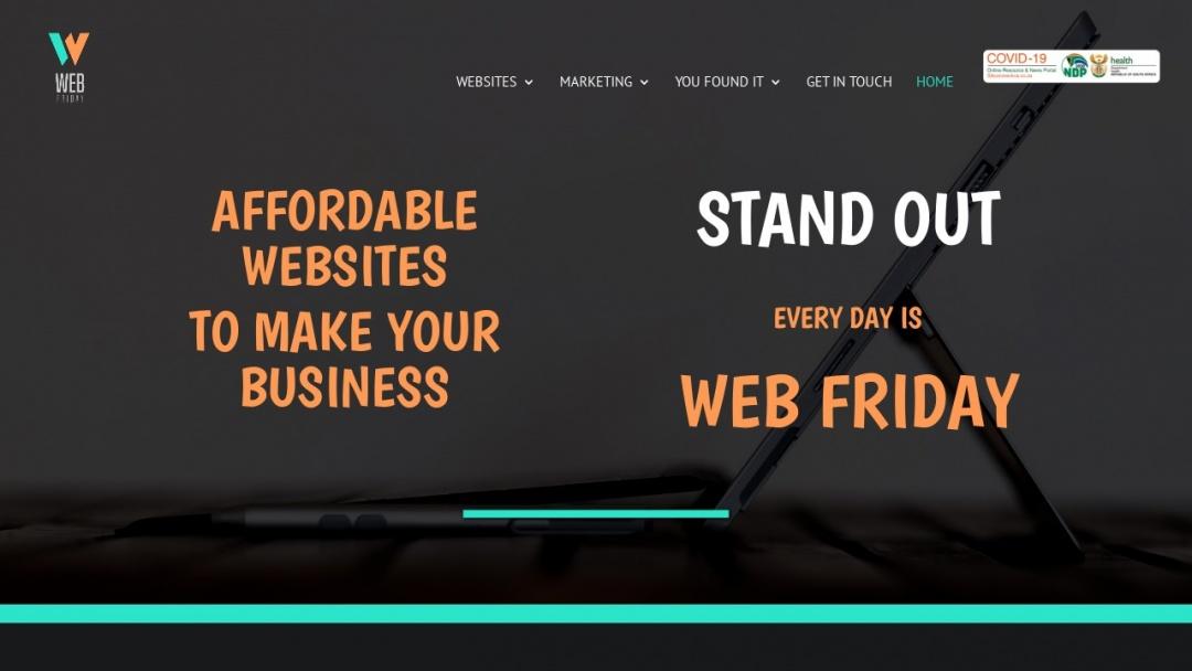 Screenshot of Web Friday's Website