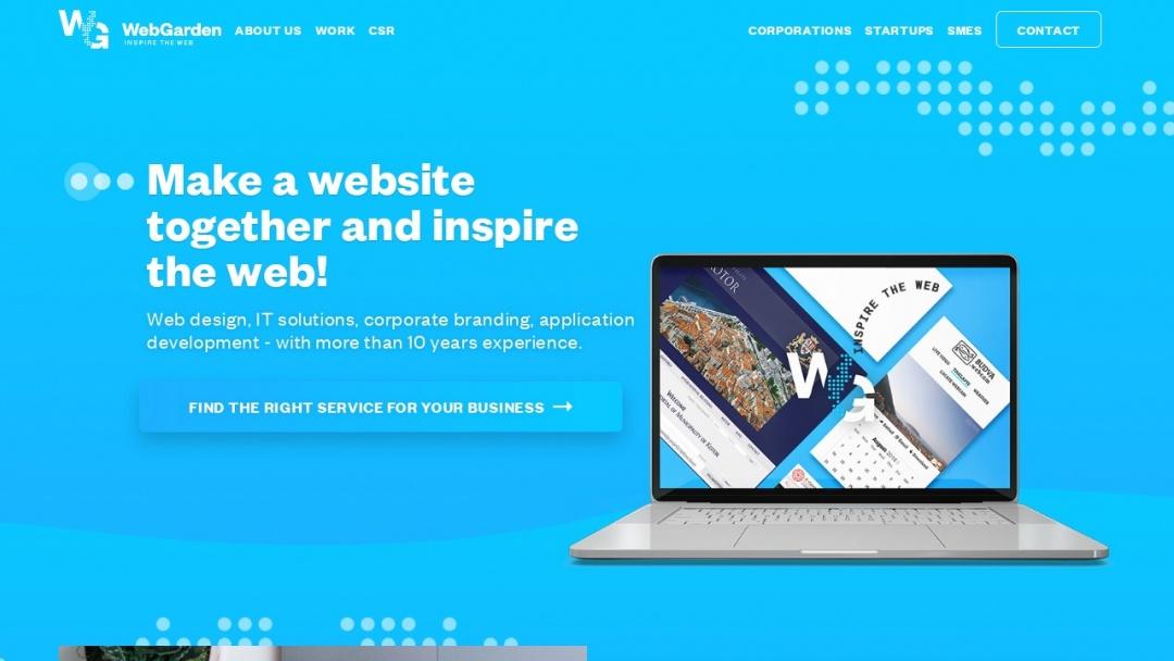 Screenshot of Web Garden Kft. LLC's Website