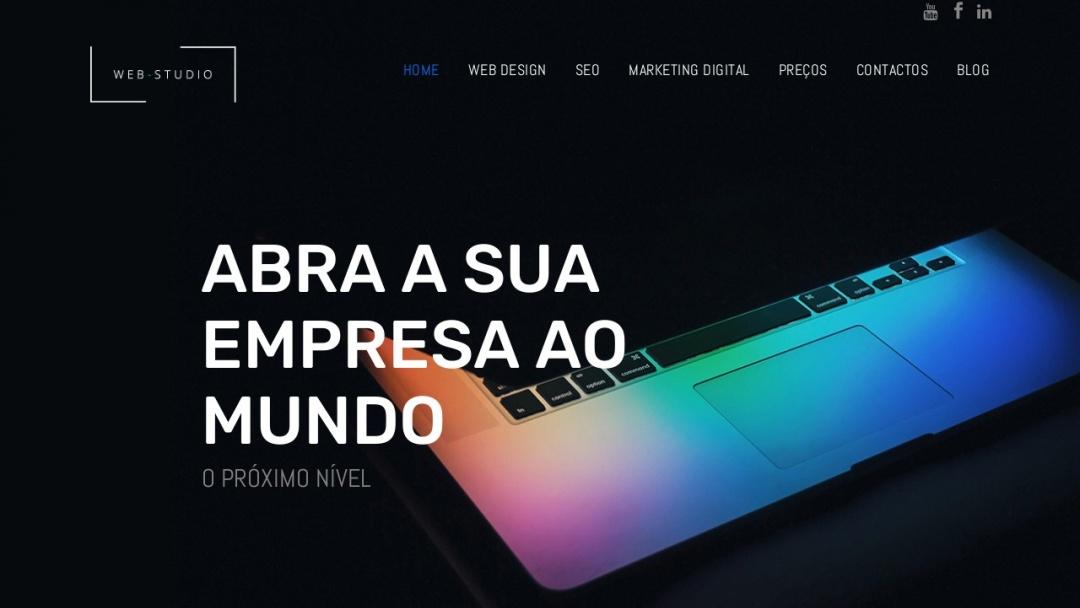 Screenshot of Web Studio's Website