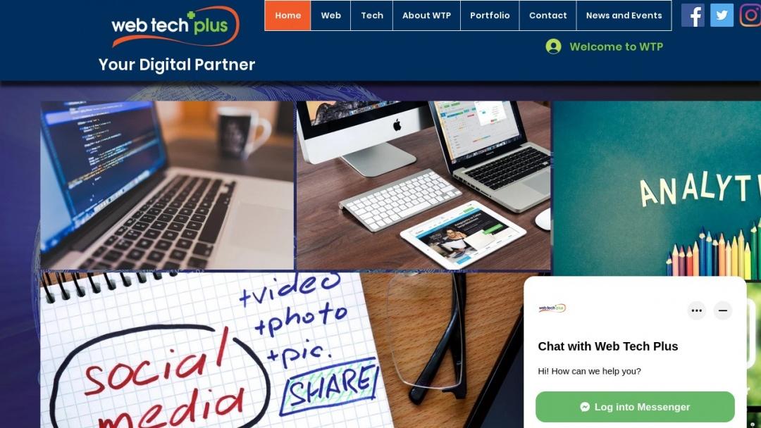 Screenshot of Web Tech Plus's Website