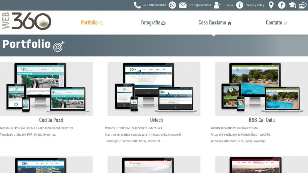 Screenshot of WEB360's Website