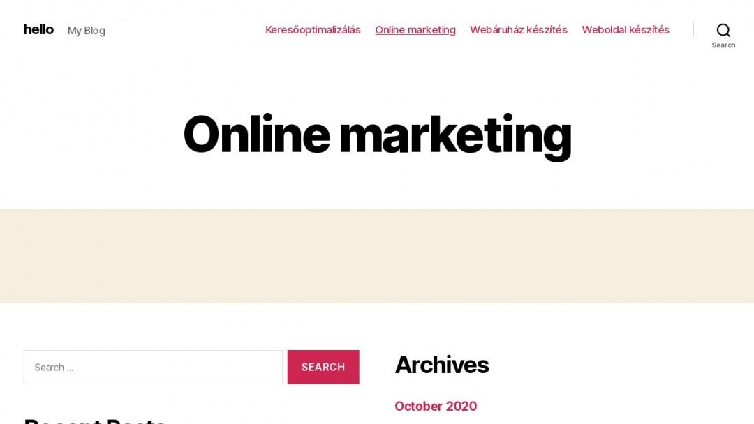 Screenshot of WebCafe Media Group's Website