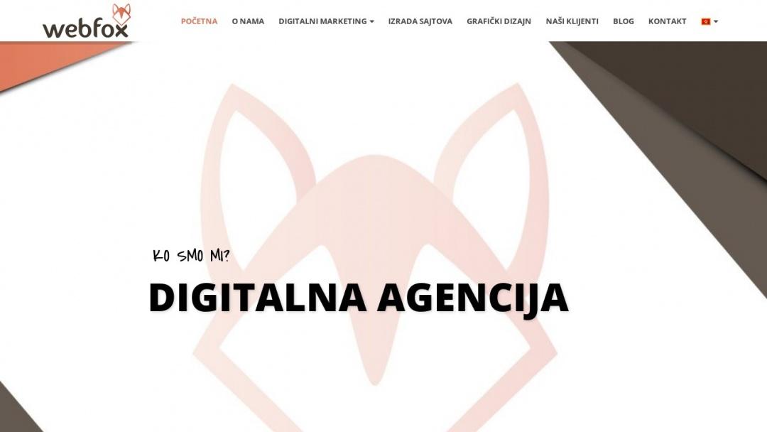 Screenshot of WebFox's Website