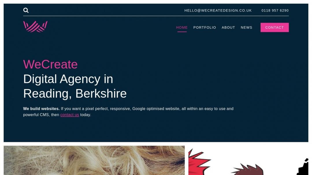 Screenshot of WeCreate Design Ltd's Website