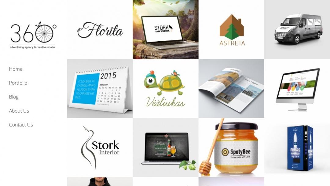 Screenshot of Wedesign360's Website