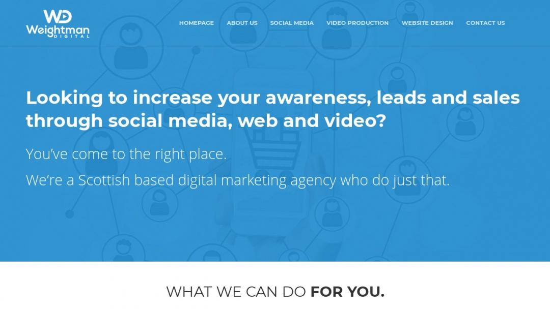 Screenshot of Weightman Digital's Website