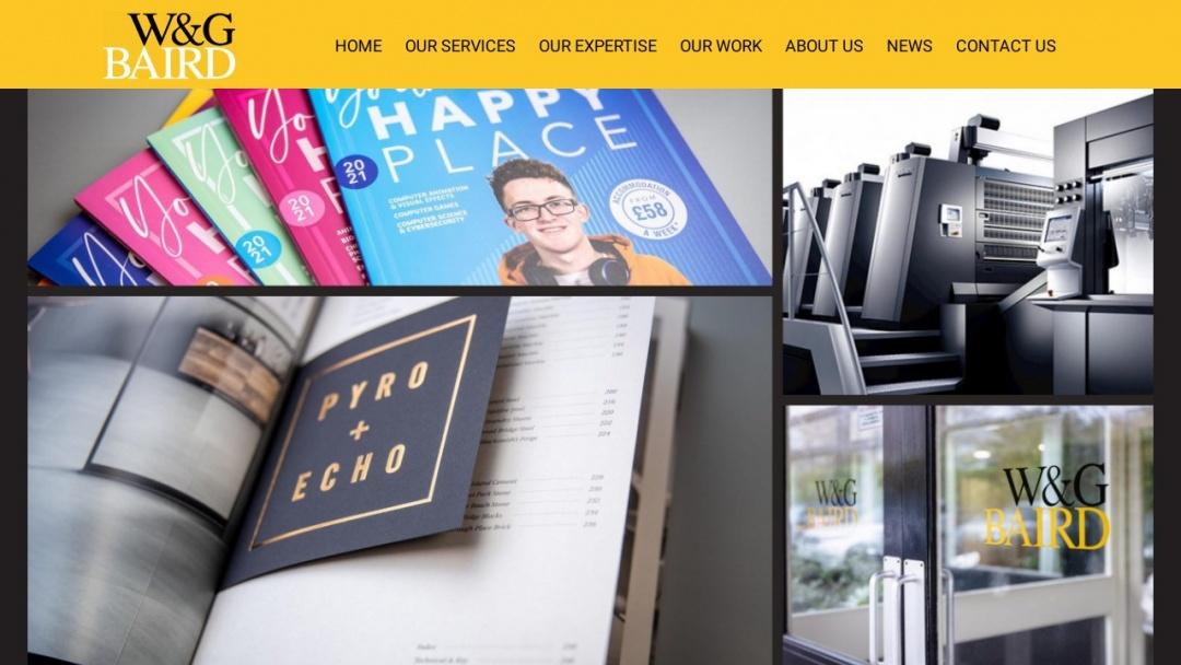Screenshot of W&G Baird Ltd's Website