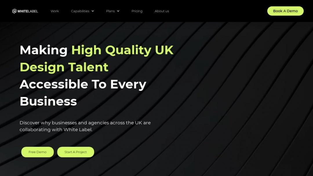 Screenshot of White Label Studio's Website