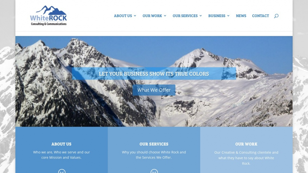 Screenshot of White Rock Consulting & Communications's Website