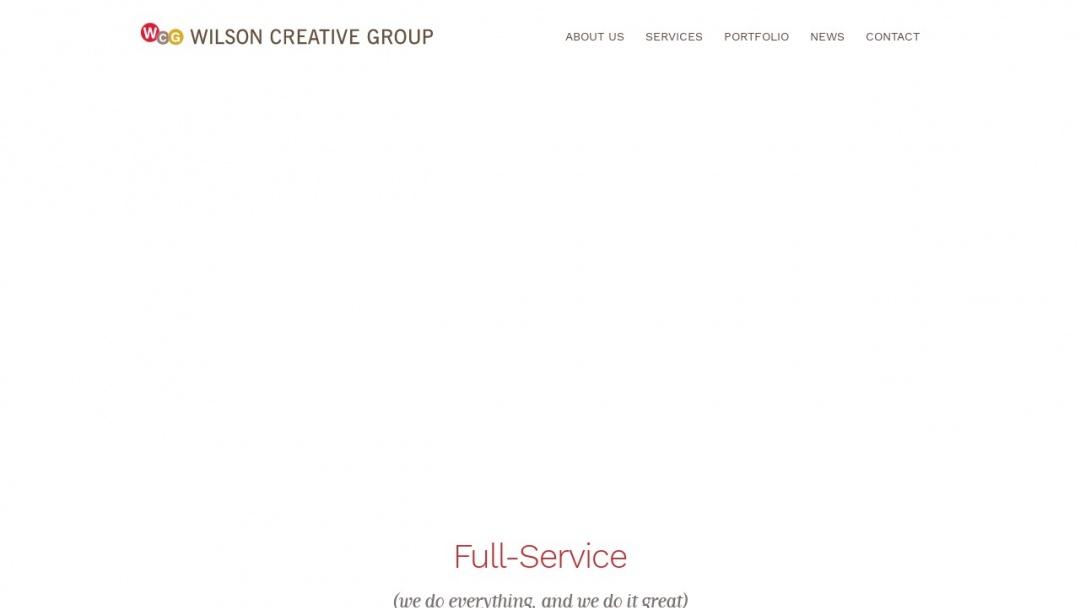 Screenshot of Wilson Creative Group, Inc.'s Website
