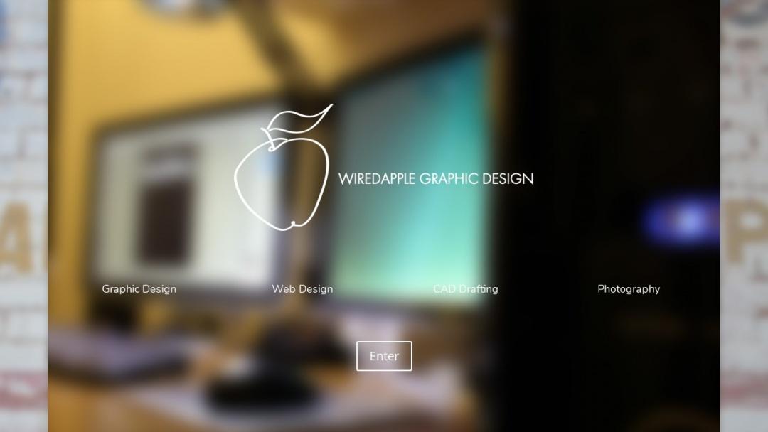 Screenshot of Wiredapple Graphic Design's Website
