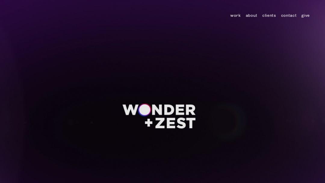 Screenshot of Wonder + Zest's Website