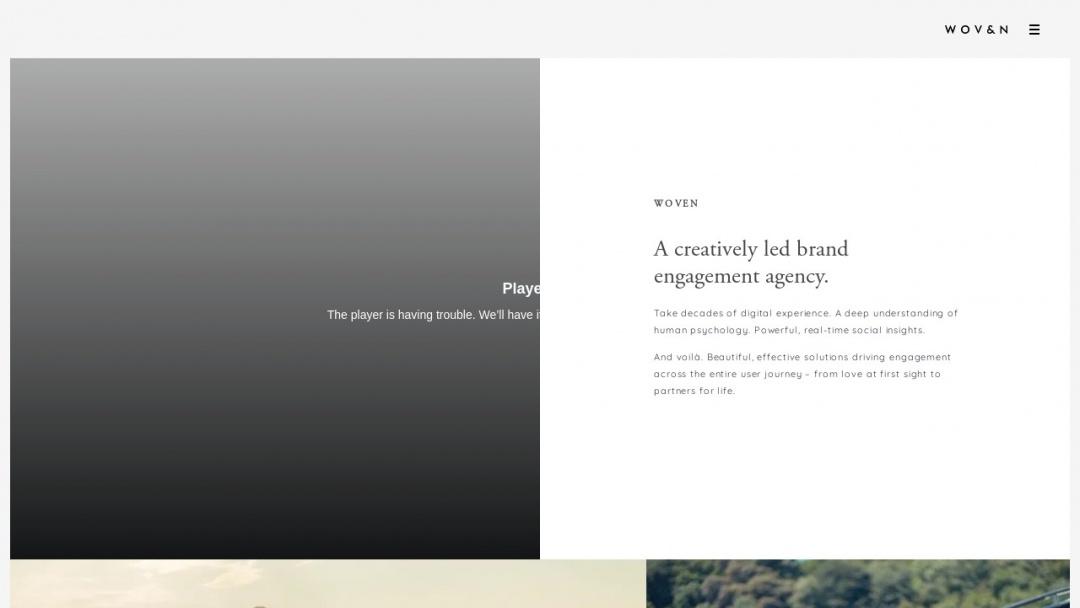 Screenshot of Woven Agency's Website