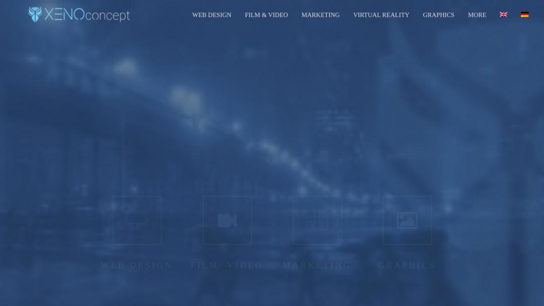 Screenshot of XENOconcept's Website