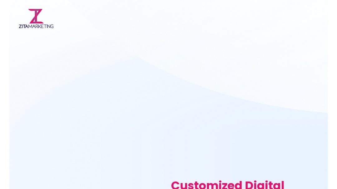Screenshot of Zita Marketing's Website