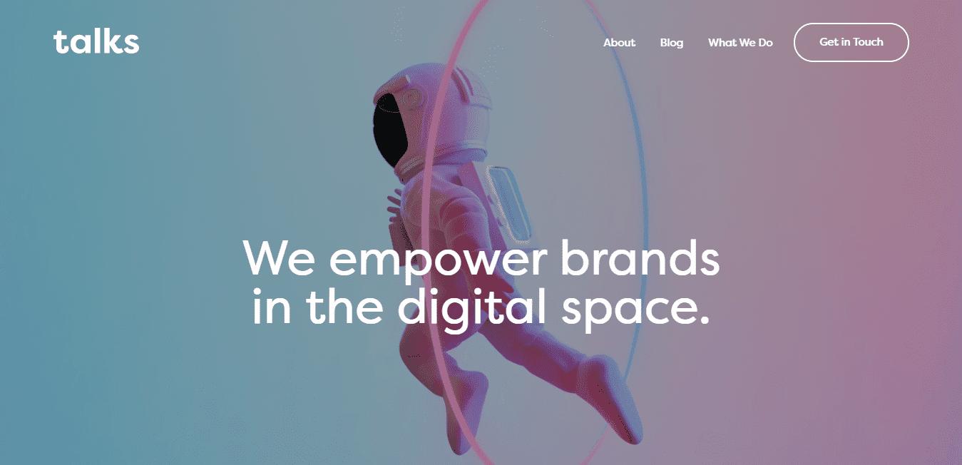 Best Marketing Agency Website for Talks Media Group Limited