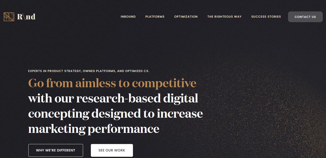 Best Marketing Agency Website for RND Development LLC