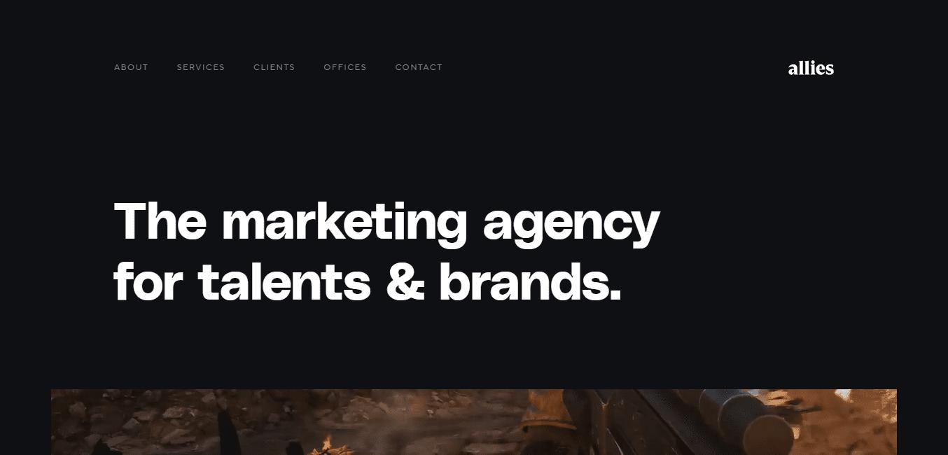 Best Marketing Agency Website for Allies marketing agency