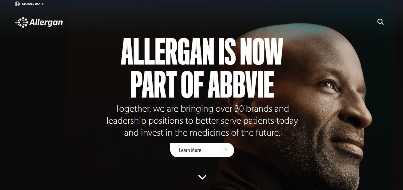 Best Pharma Website for Allergan