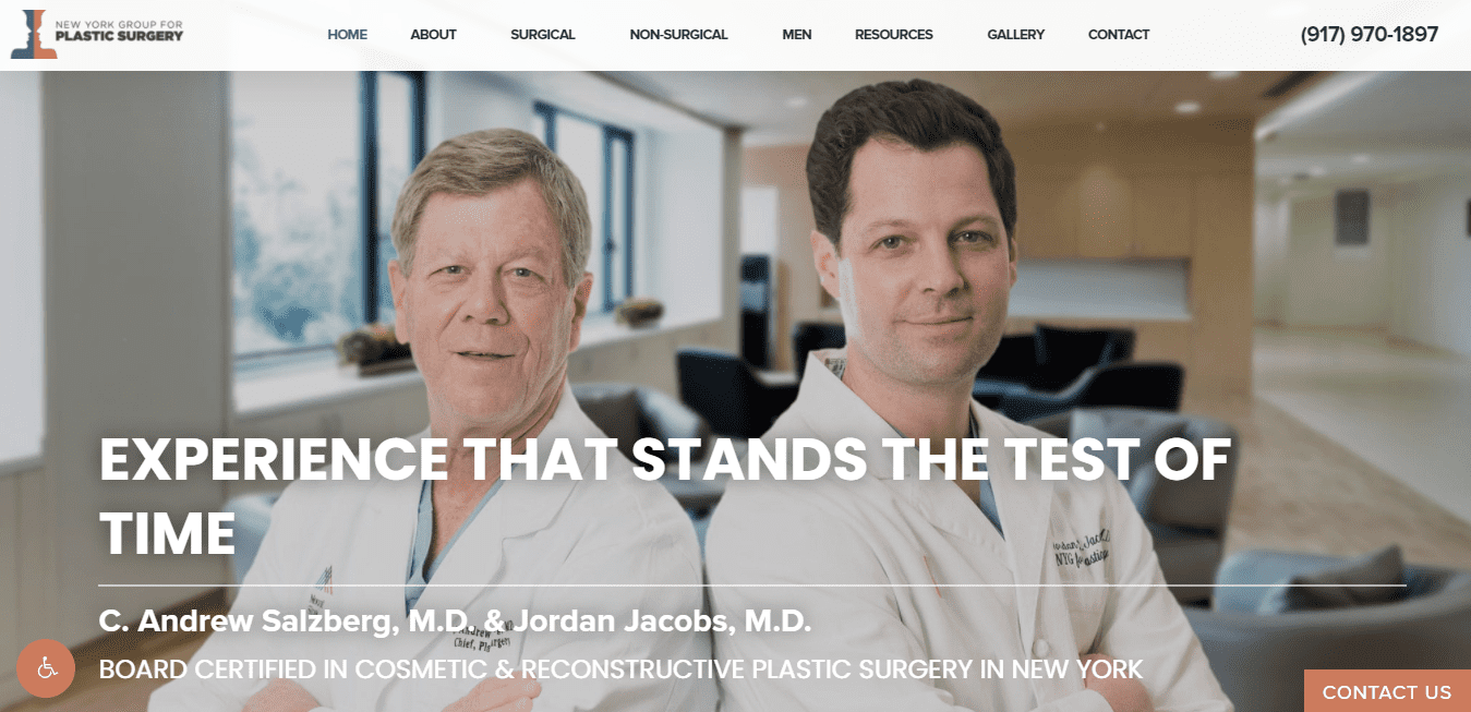 Best Plastic Surgery Website for New York Group for Plastic Surgery