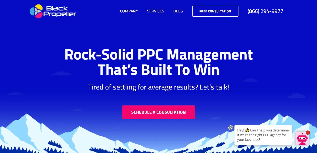 Best PPC Agency Website for BLACK PROPELLER