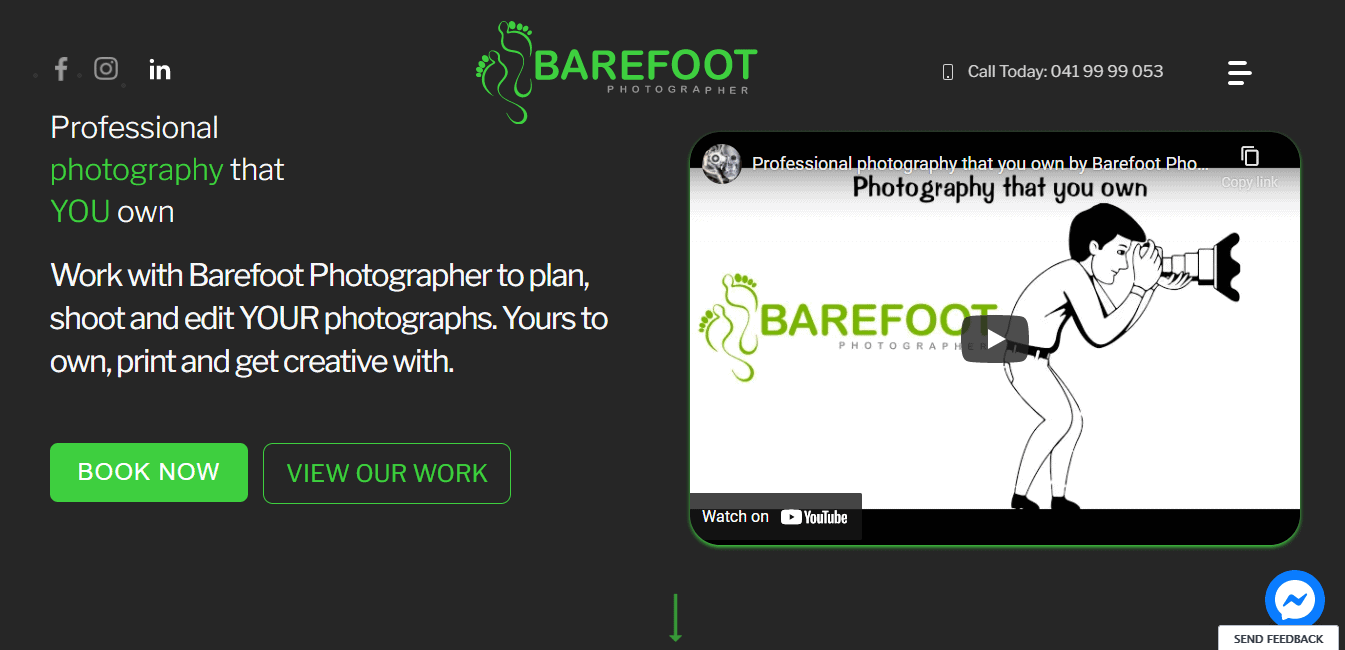 Best Professional Service Website for Barefoot Photographer
