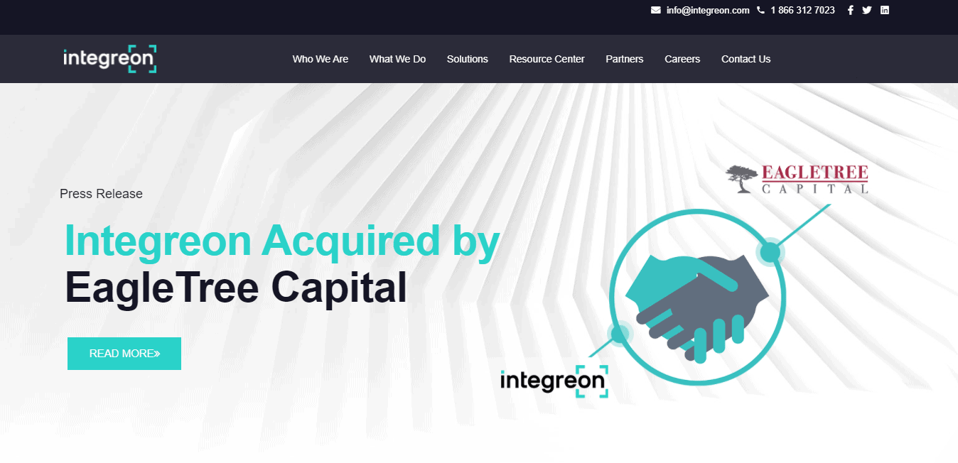 Best Professional Service Website for Integreon, Inc.