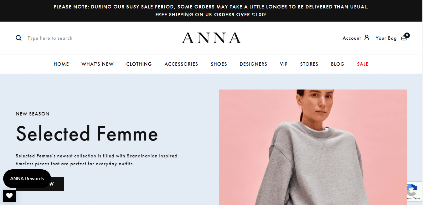 Best Retail Website for Anna Park Limited