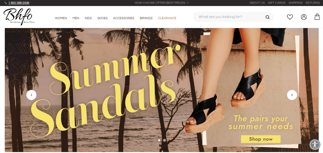 Best Retail Website for BHFO, INC.