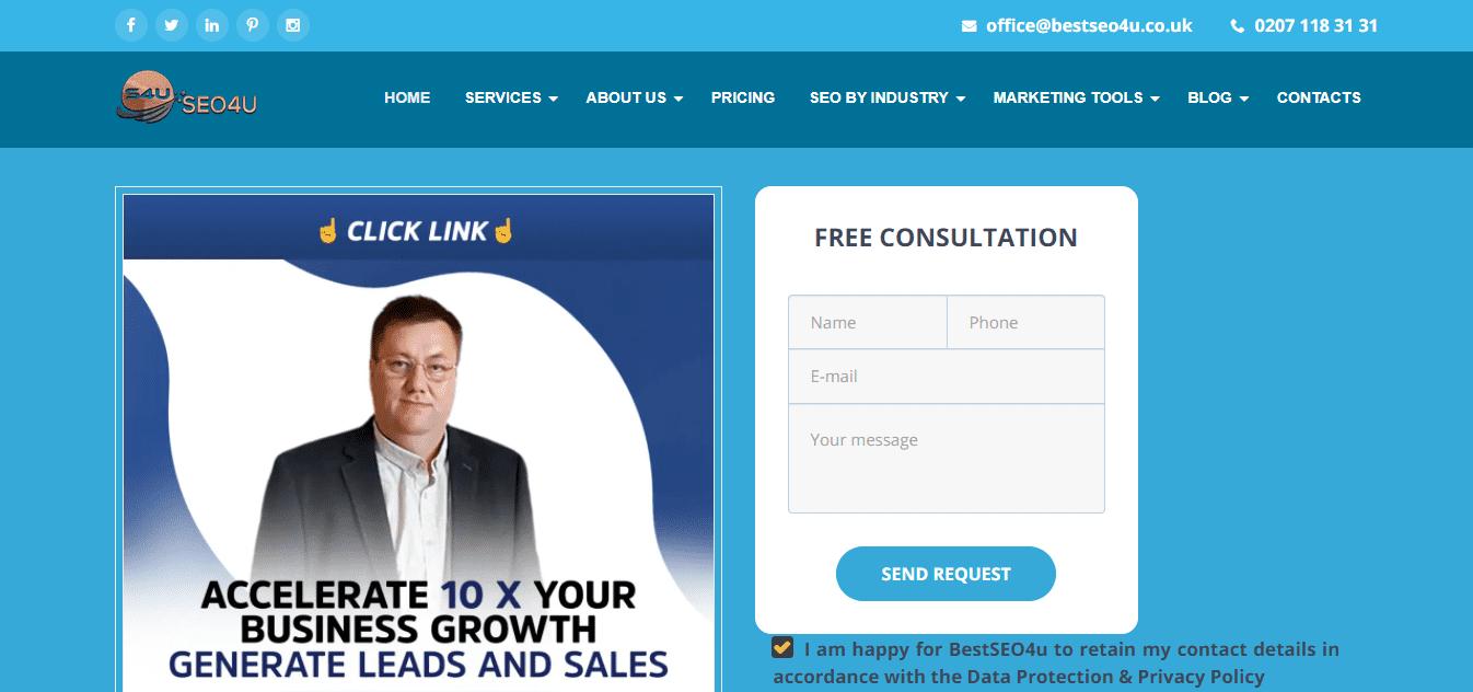 Best SEO Agency Website for BestSEO4u Digital Agency