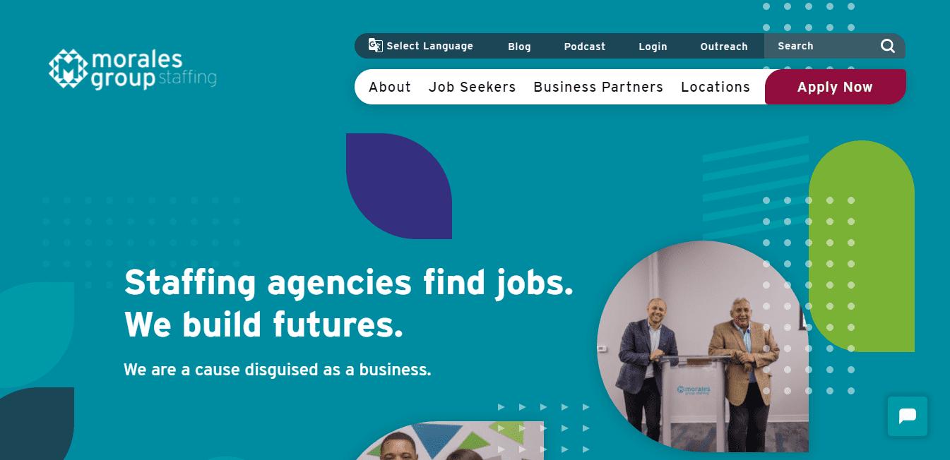 Best Staffing Website for Morales group staffing