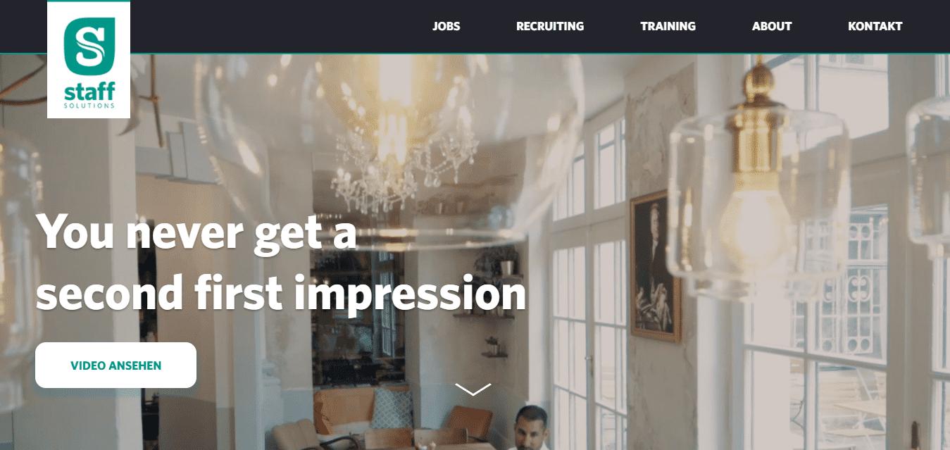Best Staffing Website for Staffsolutions e.U.