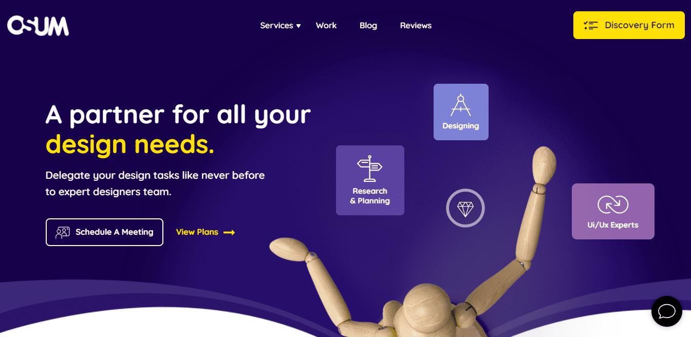 Best Web Design Company Website for Osum Studio PVT. LTD.