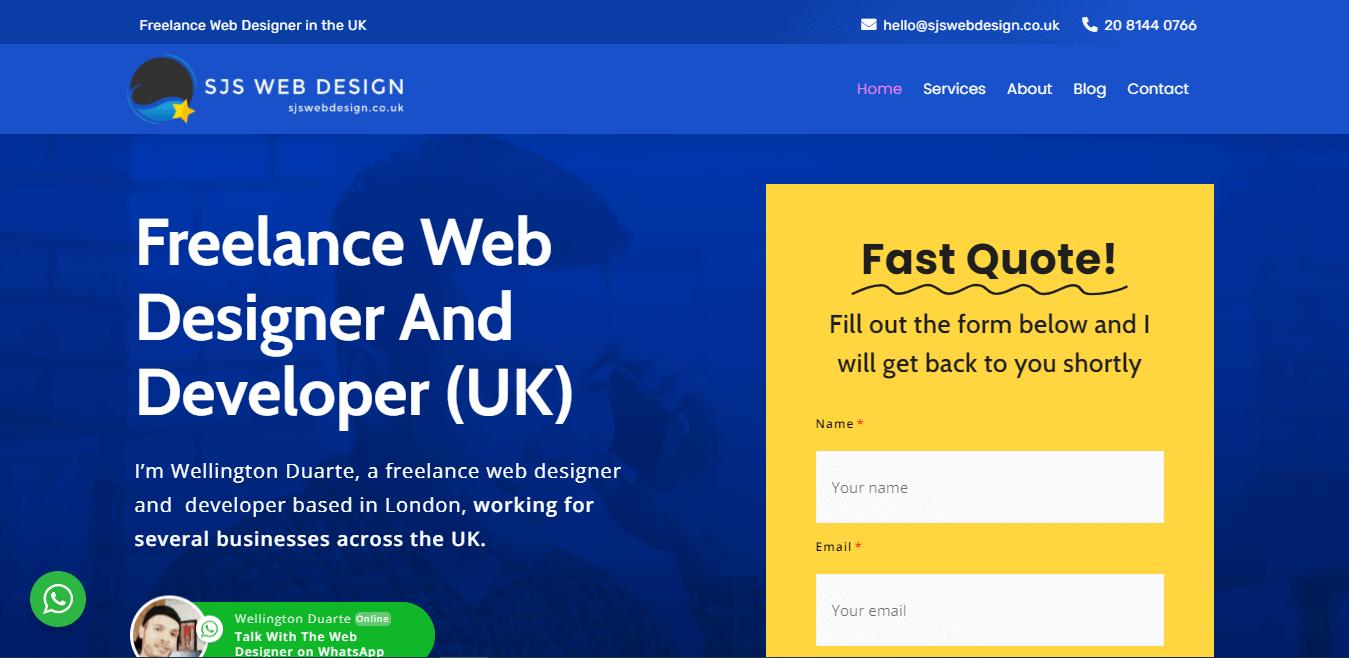 Best Web Design Company Website for SJS Web Design