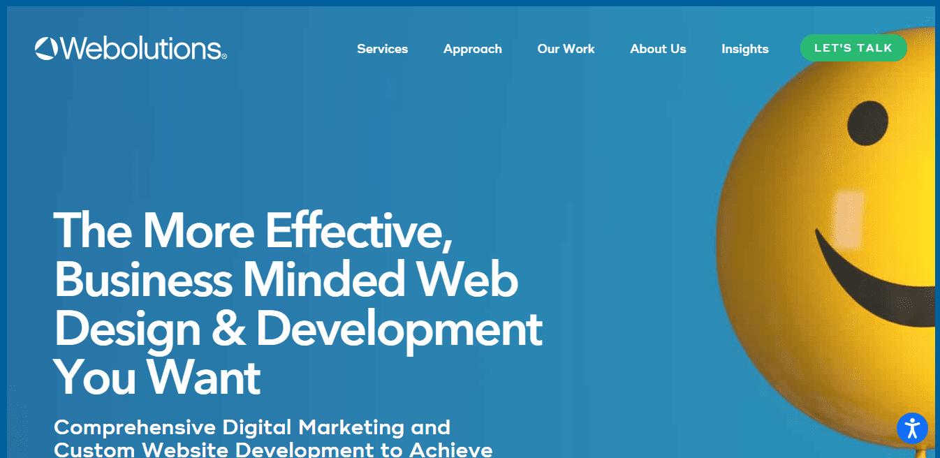 Best Web Design Company Website for Webolutions Denver Website Design