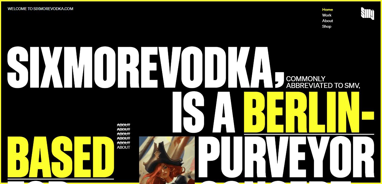 Best Agency Website for Sixmorevodka