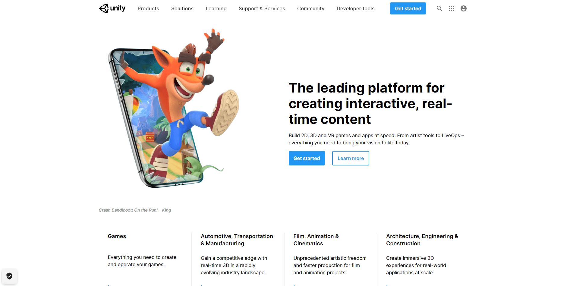 Best Agency Website for Unity