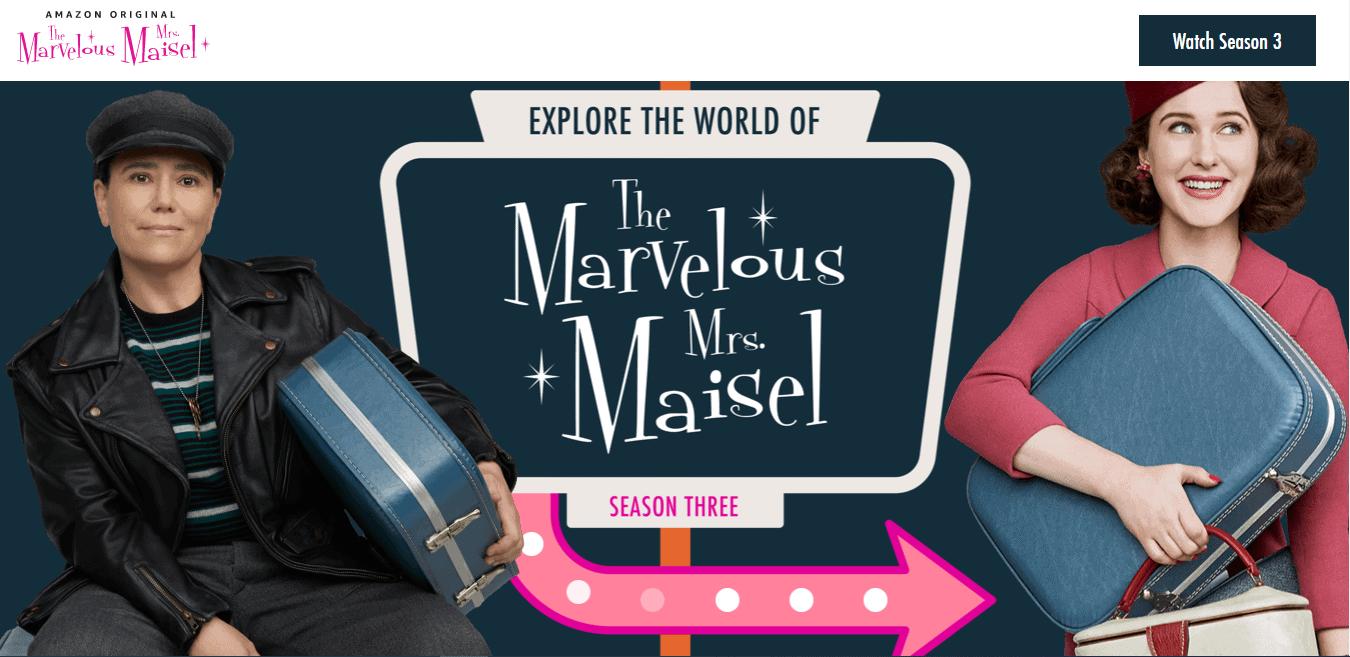 Best Agency Website for The Marvelous Mrs Maisel