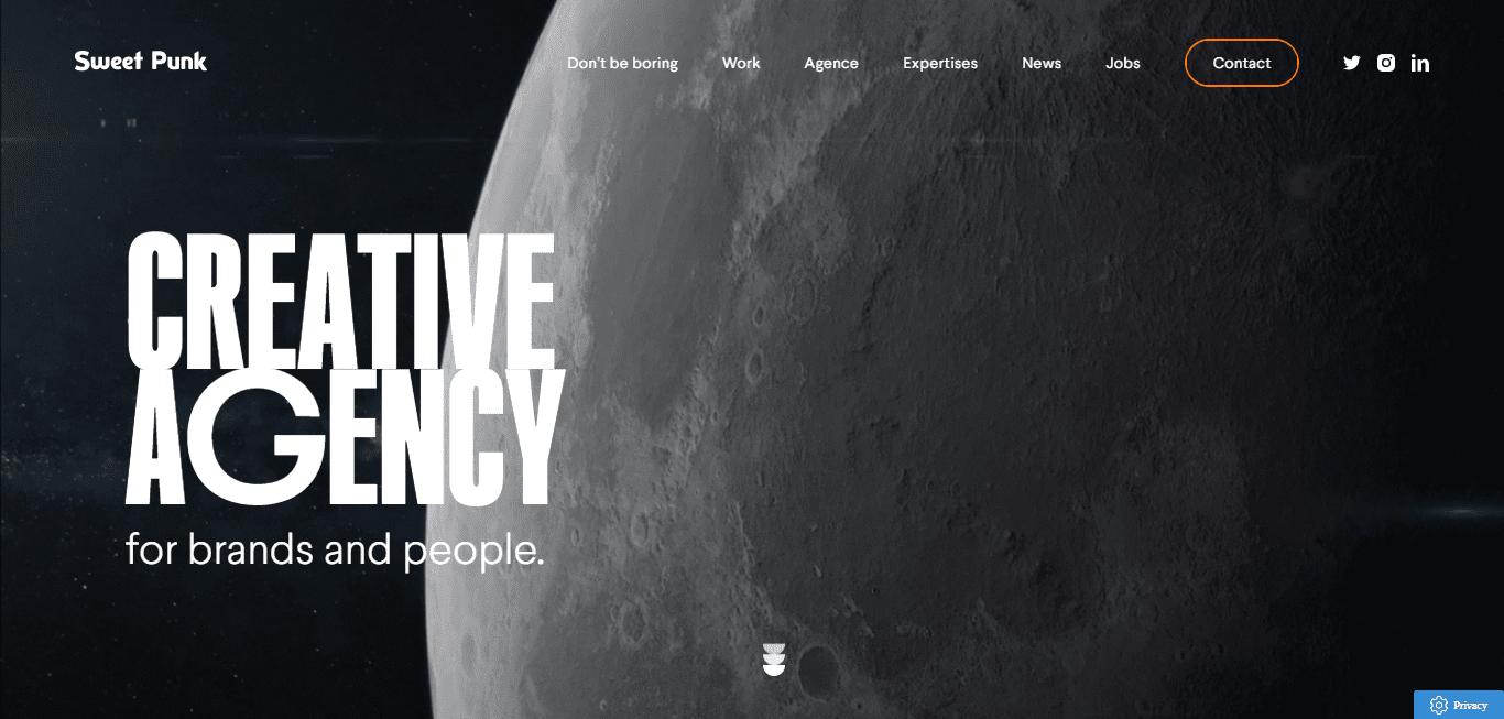 Best Creative Agency Website for Sweet Punk